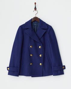 ブルー メタルボタンPコート - SHIPS OUTLET WOMEN'S APPAREL ブランド通販(セール)なら 【グラムール セールス】…