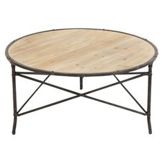 Check out this item at One Kings Lane! Brent Coffee Table, Natural/Iron