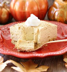 Created by: Jessica Williams, Butter With A Side of Bread This no-bake pumpkin cheesecake is lighter than the traditional version but still has all the classic flavors that you love.