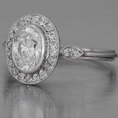 Art Deco Oval Diamond Engagement Ring OH MY! I have loved fay Cullen rings for many years and to see an oval in vintage from her...match made in heaven!