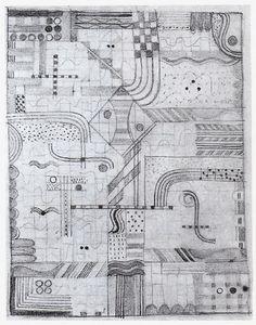 Gunta Stölzl | Gesellenarbeit, Design for a Knotted Carpet | Bauhaus Weimar. | 1922/23