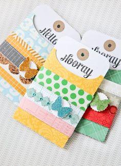 Washi tape gift tags from Studio Calico - via @babycenter #diy #washitape #gifttags