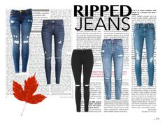 """Ripped jeans"" by kajsa15 on Polyvore featuring H&M, Topshop and Frame Denim"