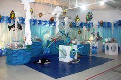 cumpleaños infantiles Bajo el mar con decoración estupenda