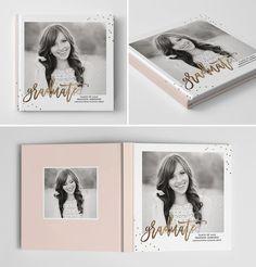 Senior Photo Book Cover Template Senior Album от hazyskiesdesigns