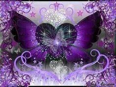 My purple Heart Purple Art, Purple Love, All Things Purple, Shades Of Purple, Deep Purple, Purple And Black, Purple Stuff, Pink, Butterfly Wallpaper