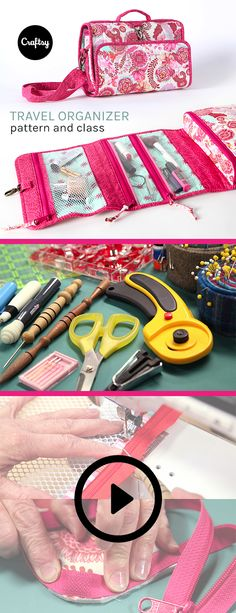 Sewing Gifts Sew two travel organizers that are functional, stylish and an impressive addition to your sewing repertoire! Diy Sewing Projects, Sewing Tutorials, Sewing Hacks, Sewing Crafts, Craft Projects, Sewing Patterns Free, Free Sewing, Travel Organization, Quilted Bag