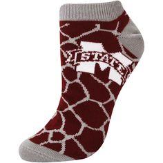 Mississippi State Bulldogs Women's Giraffe Print Ankle Socks – Maroon