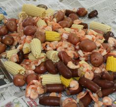 Low Country Boil ~ This southern favorite originates with the Gullah/Geechee peoples of the sea islands along the coasts of Georgia and South Carolina. It is traditionally cooked outside and served on newspaper