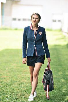Jacke Leinen blau - Mirabell Plummer Style, Fashion, Mandarin Collar, Linen Fabric, Jackets, Blue, Moda, Stylus, Fasion