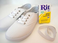 A cute way to refurbish old shoes or customize new ones on the cheap!