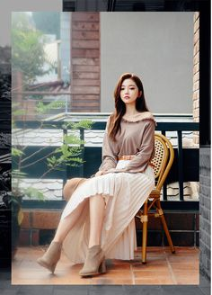 Banded Back Pleats Maxi Skirt - I know you wanna kiss me. Thank you for visiting CHUU.