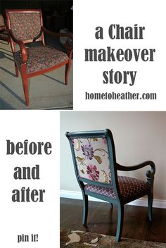 Chair Makeover – After Pics and How To