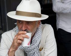 Hooman Majd in his Panama hat.