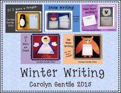 Winter Writing and Craft Activities First Grade through Third Grade  Lot's of Fun Winter Writing  Ideas!   First Grade, Second Grade, and plain lined paper. Patterns to make all the crafts shown in the picture.  Owl Moon - Are You Brave Enough? If I Were an Inuit...