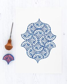 Lino Art, Stoff Design, Stamp Carving, Handmade Stamps, Fabric Stamping, Tampons, Fabric Painting, Encaustic Painting, Linocut Prints
