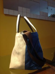 borsa di stoffa bicolore