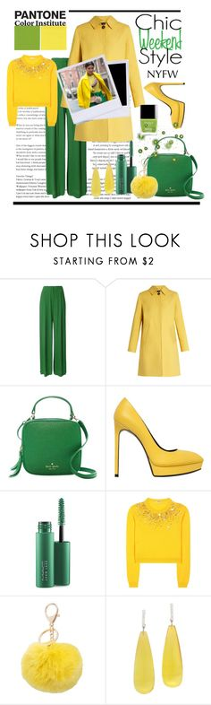 """""""NYFW - PANTONE 2017"""" by conch-lady ❤ liked on Polyvore featuring Bianca Spender, Weekend Max Mara, Kate Spade, Yves Saint Laurent, MAC Cosmetics, Miu Miu, M&Co, Michael Kanners, NYFW and Packandgo"""