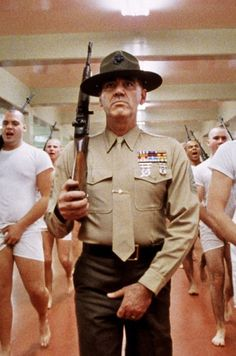 """Director Stanley Kubrick told R. Lee Ermey (as the gunny sergeant) at the outset of filming, """"Lee, I want it real,"""" And the ex-Marine sergeant responded, """"I wouldn't give it to you any other way."""""""