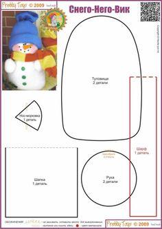 Molde do boneco de neve com a touca azul