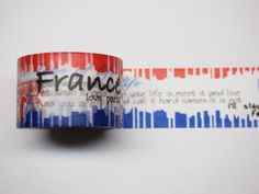 Washi Tape  France 30mm X 10M by pikwahchan on Etsy, $3.50
