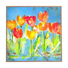 Spring Tulips by Laura Trevey Framed Painting Print
