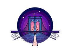 Dribbble - Brooklyn Sticker by Tsuriel