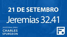 21 de setembro – Devocional Diário CHARLES SPURGEON #265