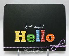 Stephanie Mino - really love the black card