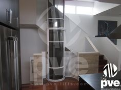Vacuum elevator PVE30. Single passenger small Home Elevator. Ideal for existing homes due to the minimal footprint required to accommodate the structure.