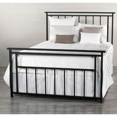 Aspen Iron Bed by Wesley Allen - Matte Black Finish