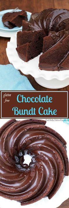 Moist, Rich #Glutenfree Chocolate Buttermilk Bundt Cake from Faithfully Gluten Free.