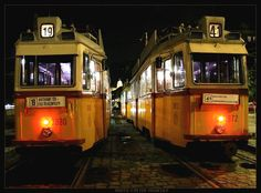Old trams in Batthyany Square, Budapest