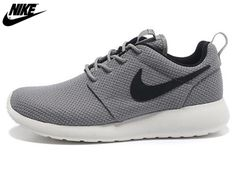 newest 75b9f d2b65 2013 Mens Nike Roshe One Mesh Running Shoes Grey Black,Wholesale Cheap Nike ,Jordans