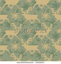 Vintage Christmas seamless pattern - stock vector