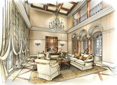 Interior rendering, David Desmond Interior Design