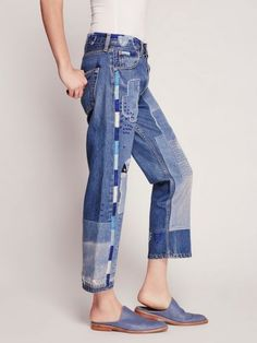Creative patchwork jeans (selection)
