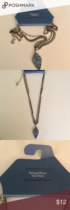 Vera Wang - Blues and mixed metals necklace Beautiful vera wang brand necklace. Mixed blue tones and mixed metals. NWT. Measures 18 inches. Fast shipping, bundle and save! Simply Vera Vera Wang Jewelry Necklaces