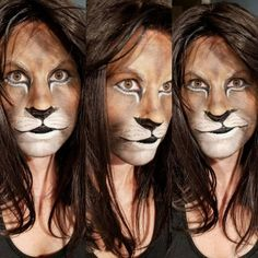 Make up takes practice. This is getting there and will be ready for Halloween. … Make up takes practice. This is getting there and will be ready for Halloween. Lion Makeup, Animal Makeup, Face Paint Makeup, Male Makeup, Makeup Geek, Fx Makeup, Halloween Make Up, Halloween Face Makeup, Lion Halloween