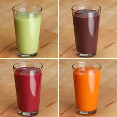 Veggie-Packed Smoothies 4 Ways by Tasty