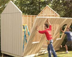 how to build a shed... This is a neat site and really is do-able... only you can't live in it, which is my main goal in building something. You have to be careful about your areas specs on livable housing. There are so many rules and regs. now grrr #deckbuildingstoragesheds