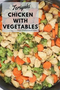 Teriyaki chicken with vegetables dish is full of flavor and a family favorite. Even those picky palates are sure to eat their protein and veggies. Easy Low Calorie Dinners, Healthy Low Calorie Dinner, Easy Dinners, Pork Recipes, Chicken Recipes, Healthy Recipes, Delicious Recipes, Low Cal Dinner, Microwave Dishes