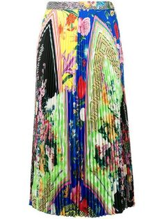 dbf832674 Versace Acid Bloom Print Skirt - Farfetch Printed Skirts, Tie Dye Skirt,  Versace,