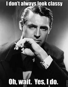 Classy Cary Grant.