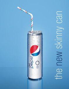 I love Diet Pepsi.  Maybe the skinny can will make me feel skinny?