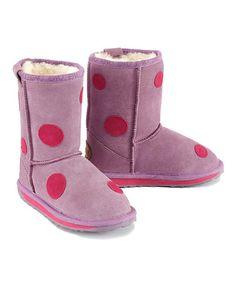 EMU Australia Aubergene Suede Spotty Boot - Toddler   Kids. Botas Ugg ... c76b81ff4