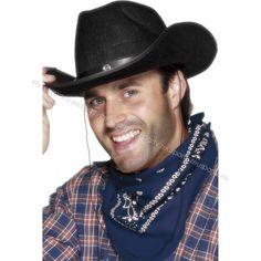 Cappello Cow Boy Nero 7