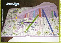 Artesanato e Cia: Porta -lápis em tecido - passo a passo