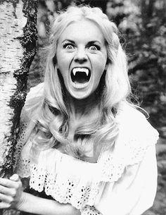 """horrorgasmo: """"Kirsten Lindholm in Vampire Lovers """" Sexy Horror, Gothic Horror, Horror Art, Vampire Girls, Vampire Art, Vampire Books, Dracula, Hammer Horror Films, Hammer Films"""