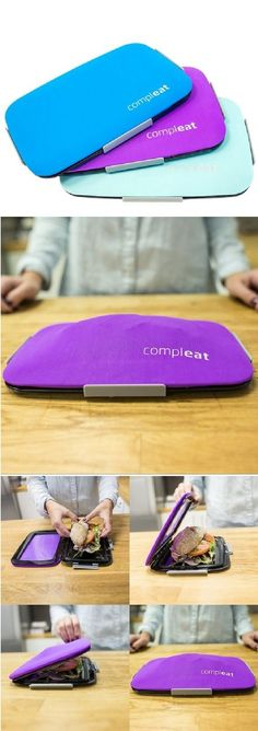 Flexible Lunchbox, Have you ever discovered that your perfectly assembled sandwich has fallen to pieces when you take it out of your lunchbox?